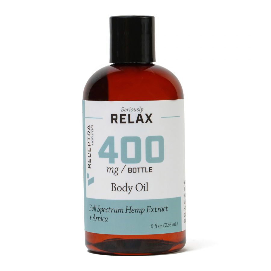 Seriously Relax + Arnica Body Oil-400mg (8oz)